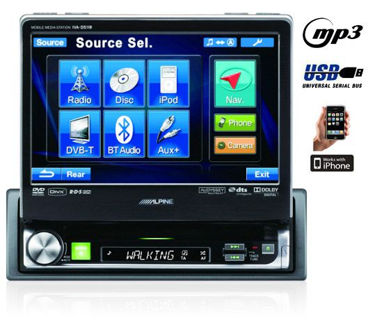 autoradio double din gps alpine. Black Bedroom Furniture Sets. Home Design Ideas