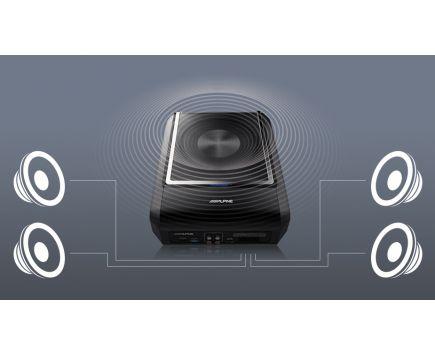 Caisson Amplifie 4 Canaux Bluetooth ALPINE PWD-X5