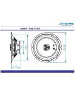 Haut parleurs 16.5 cm ALPINE SXE1725S