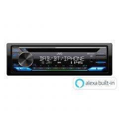 Autoradio  1 DIn Usb Aux BLuetooth Varios Couleurs Alexa JVC KD-DB912BT